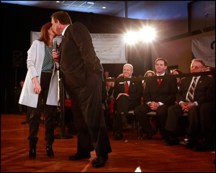 Governor Chris Christie holds his 132nd Town Hall in Whippany, N.J. on Tuesday, March 24, 2015. (Governor's Office/Tim Larsen)